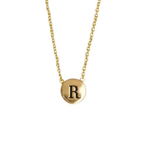 Ketting letter R 18K goud