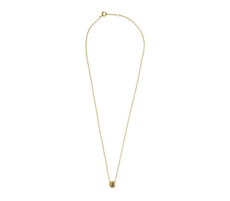 Character Goldplated Ketting letter R