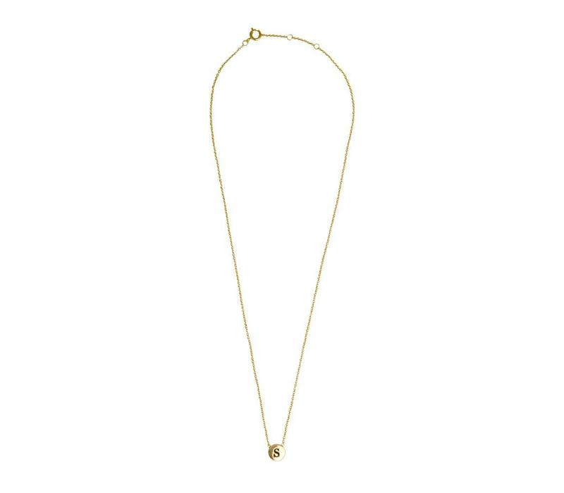 Character Goldplated Ketting letter S