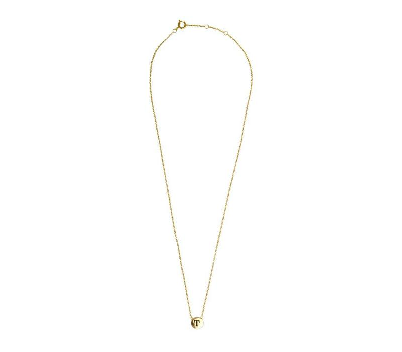 Necklace letter T gold