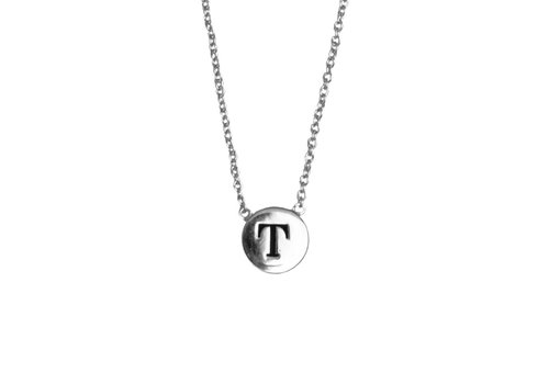 All the Luck in the World Ketting letter T zilver