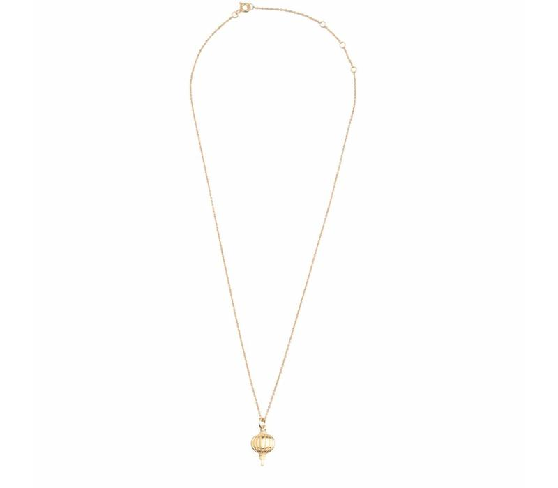 East Goldplated Necklace Lantern