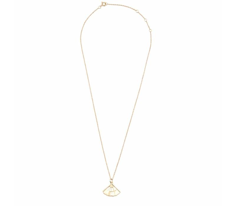 East Goldplated Necklace Fan
