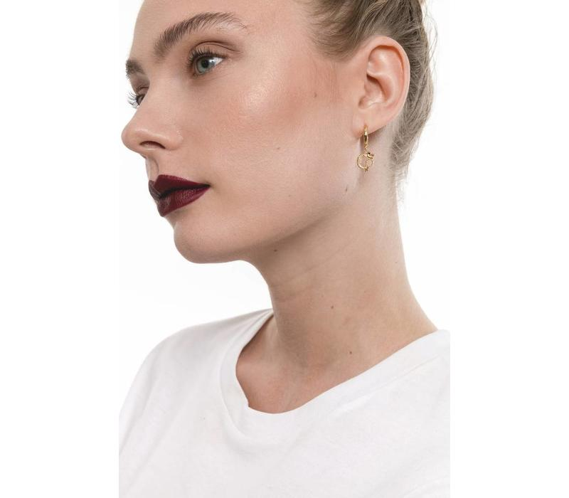 Earring Small Dragon plated