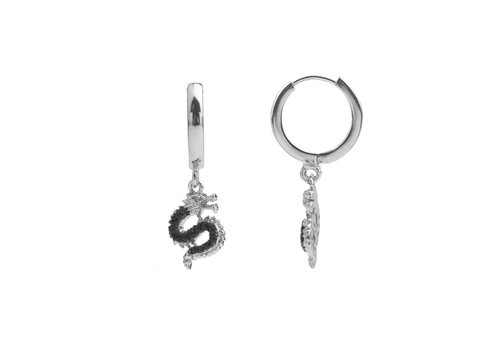 All the Luck in the World Earring Big Dragon silver