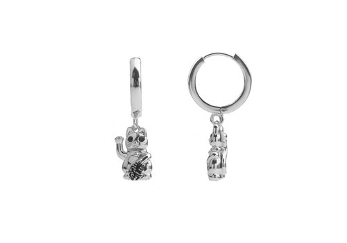 All the Luck in the World Earring Lucky Cat silver