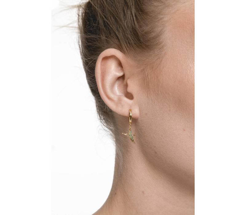 Earring Crane plated