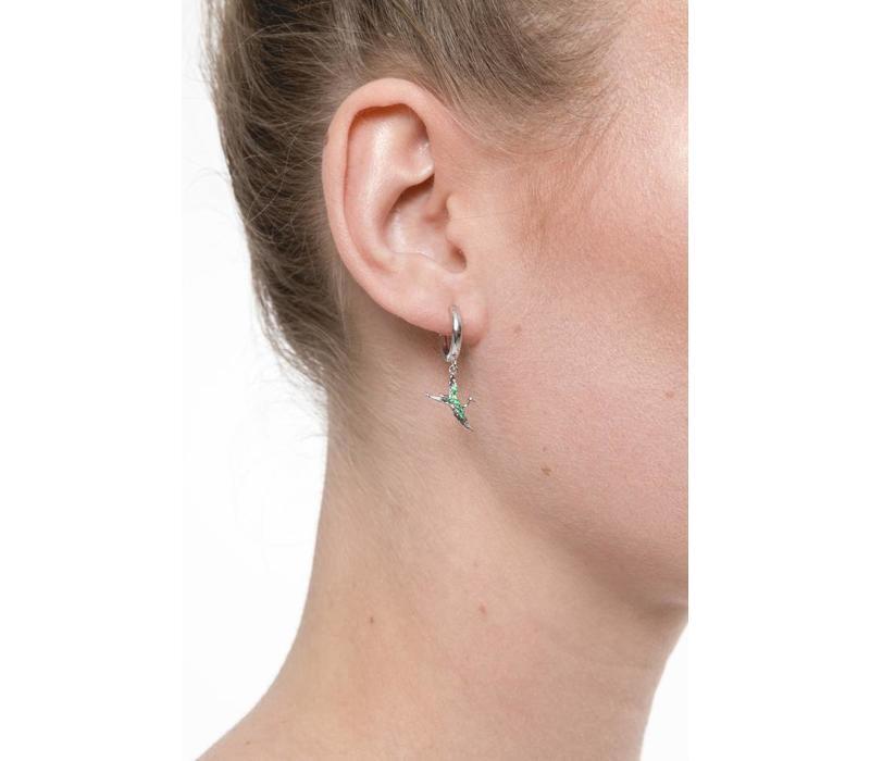 East Silverplated Earring Crane