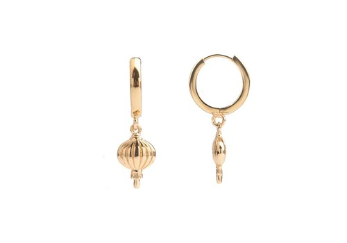 All the Luck in the World Earring Lantern gold
