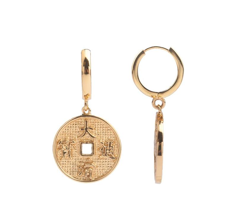 Earring Lucky Coin gold