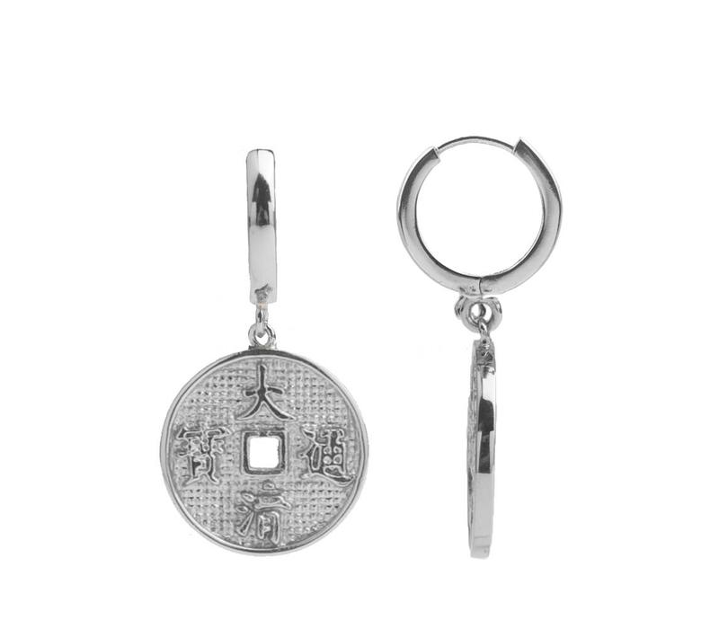 Earring Lucky Coin silver