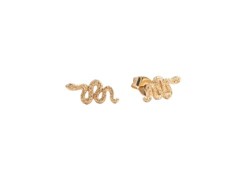 All the Luck in the World Earrings Snake gold