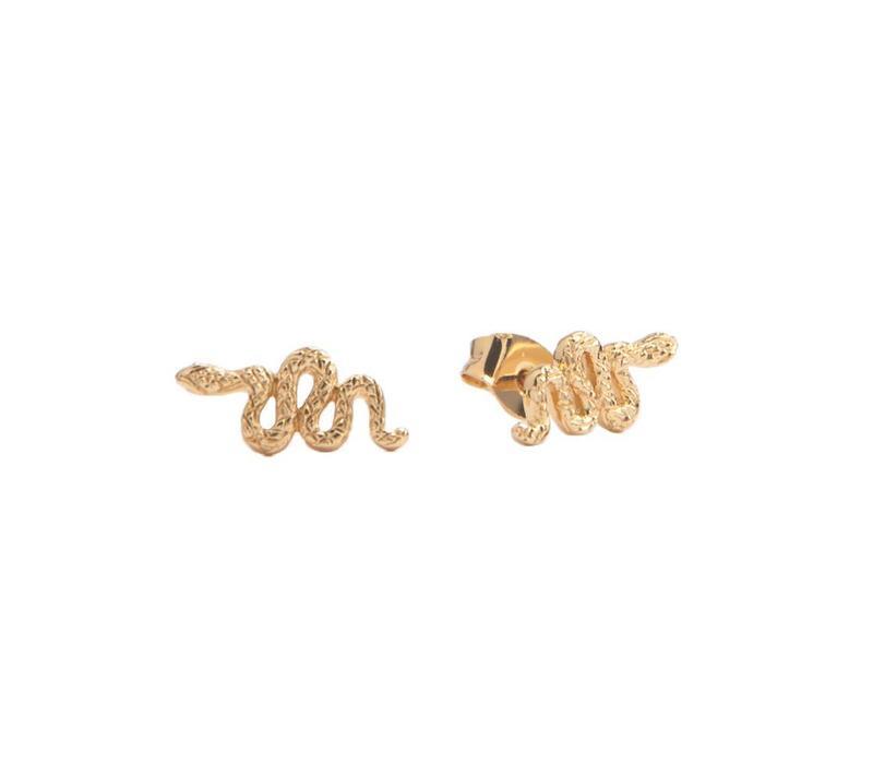 Earrings Snake plated