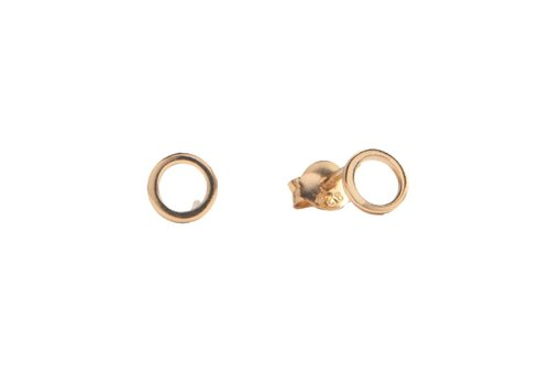 All the Luck in the World Parade Goldplated Earrings Open Circle