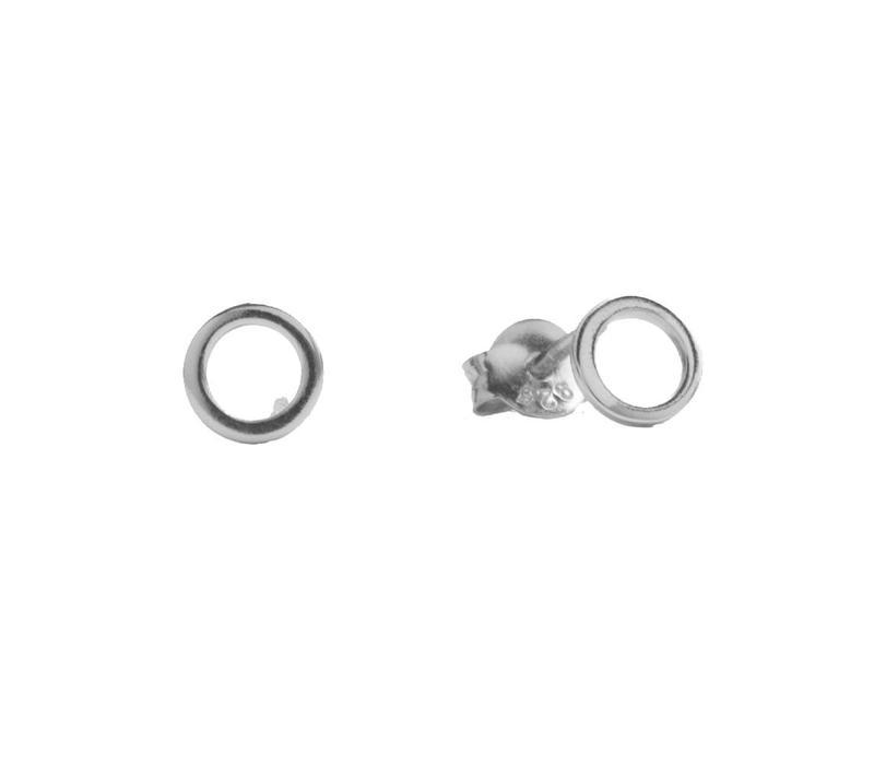 Earrings Open Circle silver