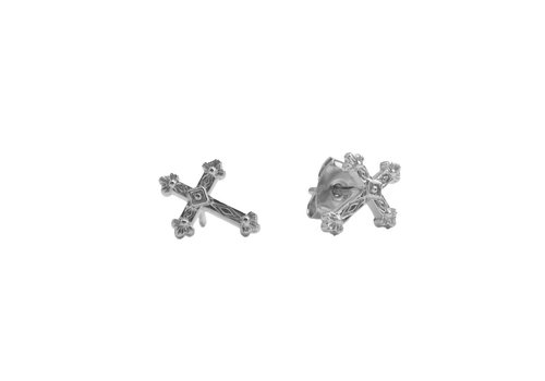 All the Luck in the World Parade Silverplated Earrings Cross
