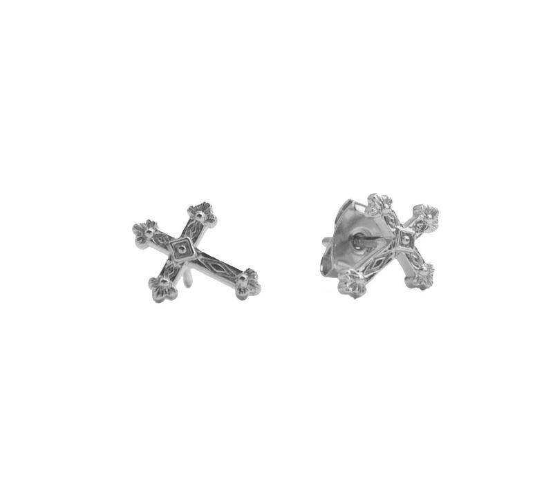 Oorbellen Kruis zilver