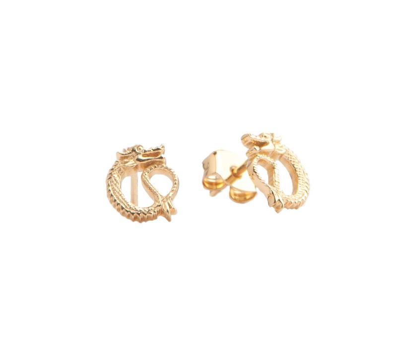Earrings Dragon gold