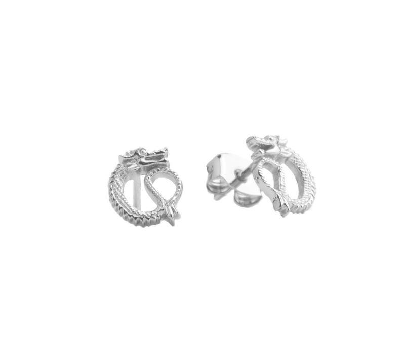 Earrings Dragon plated