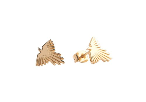 All the Luck in the World Parade Goldplated Earrings Eagle
