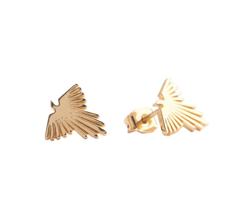 Earrings Eagle gold