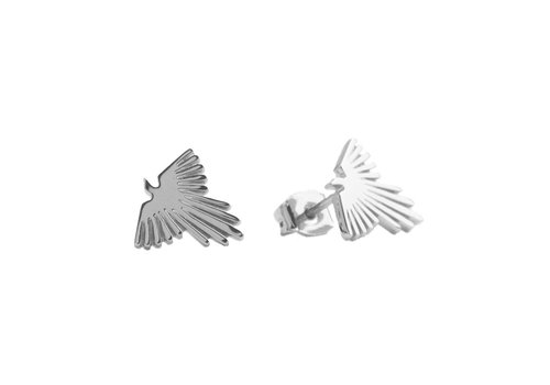 All the Luck in the World Parade Silverplated Earrings Eagle