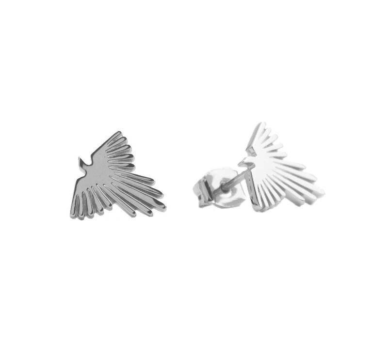 Earrings Eagle silver
