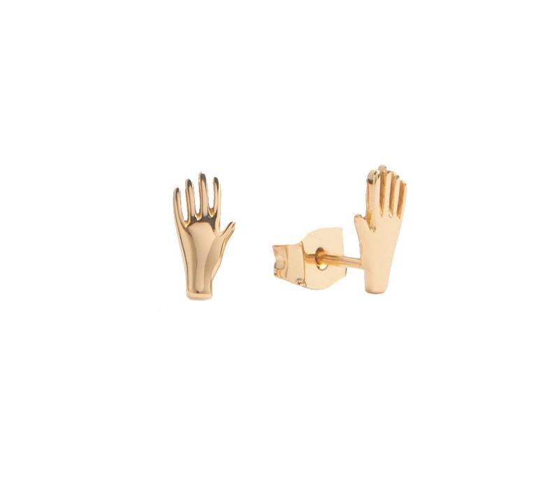 Oorbellen Hand 18K goud