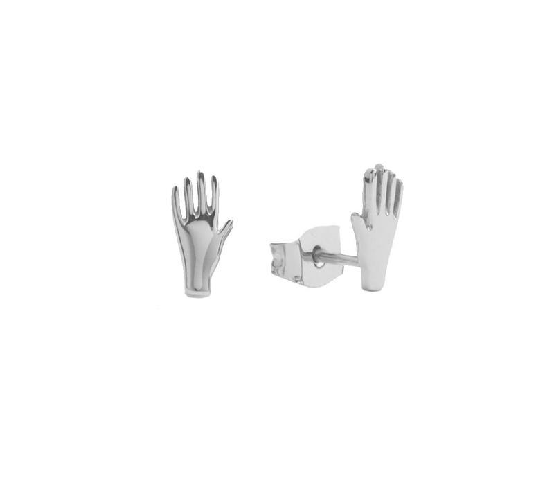 Oorbellen Hand zilver