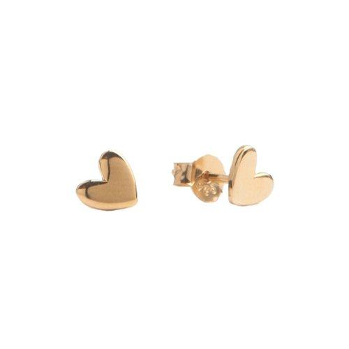 Earrings Heart  gold