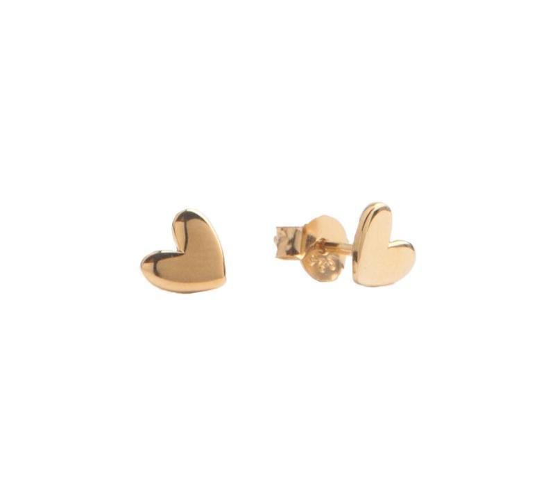 Oorbellen Hart 18K goud
