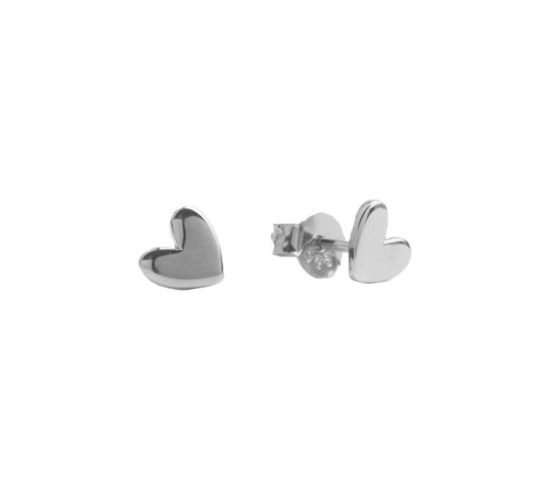 Earrings Heart  plated