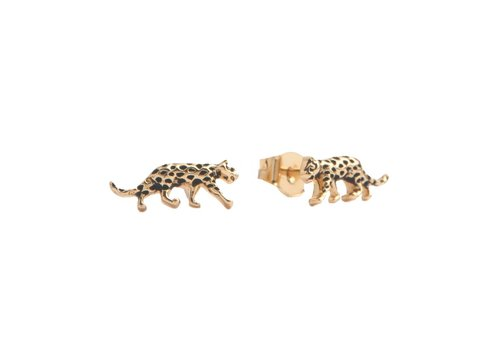 All the Luck in the World Parade Goldplated Earrings Leopard