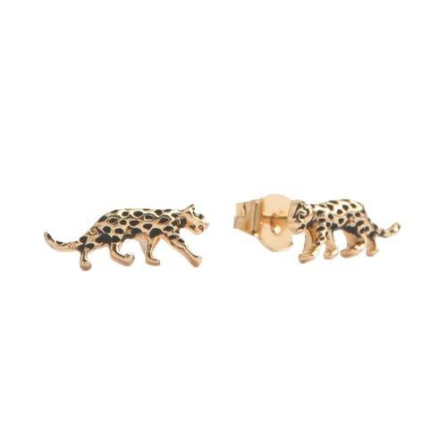 Parade Goldplated Oorbellen Luipaard