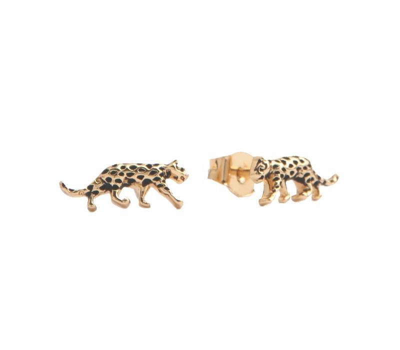 Oorbellen Luipaard 18K goud