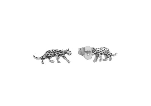 All the Luck in the World Parade Silverplated Earrings Leopard