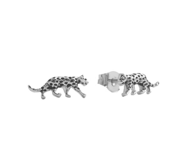 Earrings Leopard silver