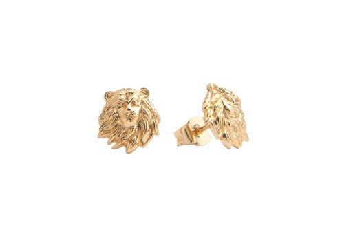 All the Luck in the World Parade Goldplated Earrings Lion