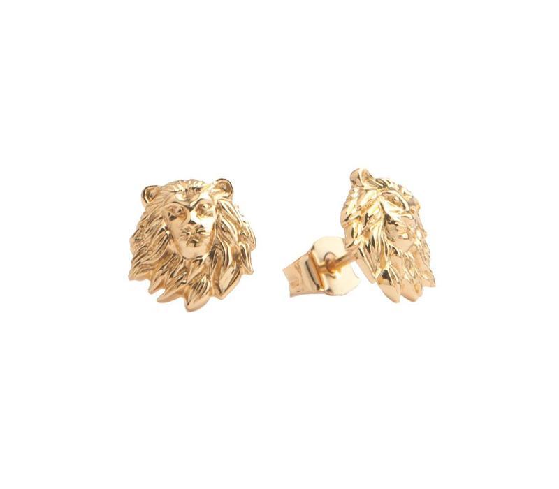 Oorbellen Leeuw 18K goud