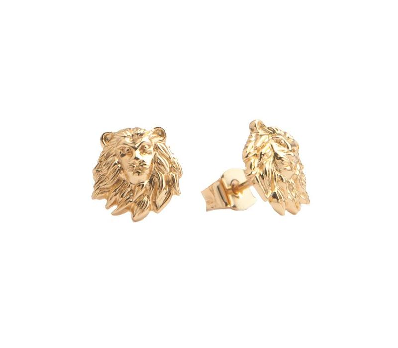 Parade Goldplated Earrings Lion