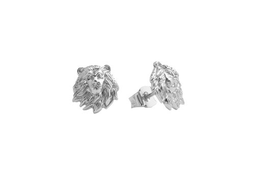 All the Luck in the World Parade Silverplated Earrings Lion