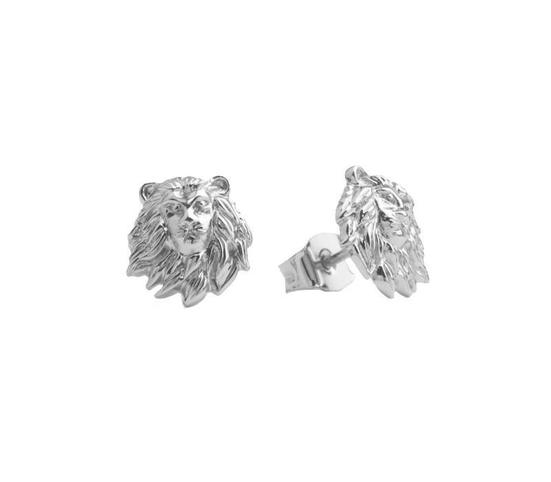 Oorbellen Leeuw zilver