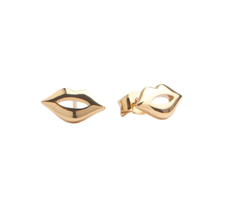 Earrings Lips plated