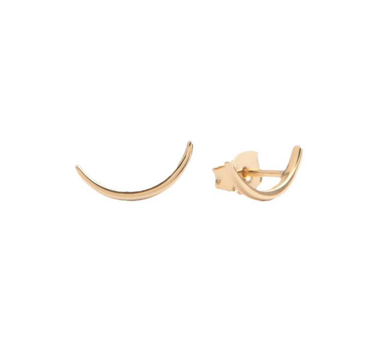 Parade Goldplated Earrings Long Moon