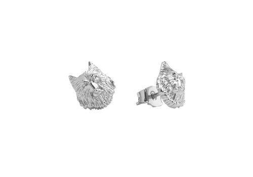 All the Luck in the World Parade Silverplated Earrings Wolf