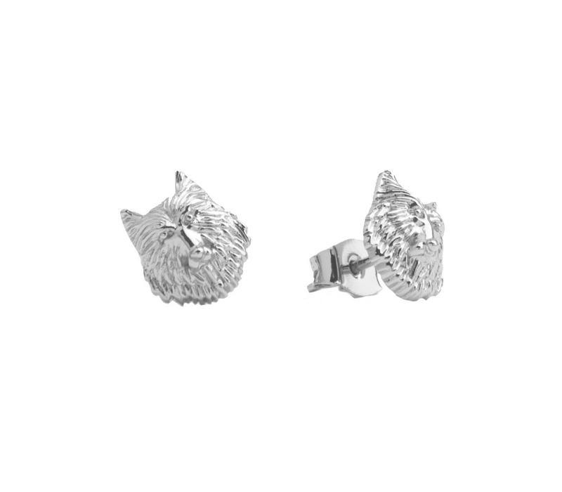 Earrings Wolf silver