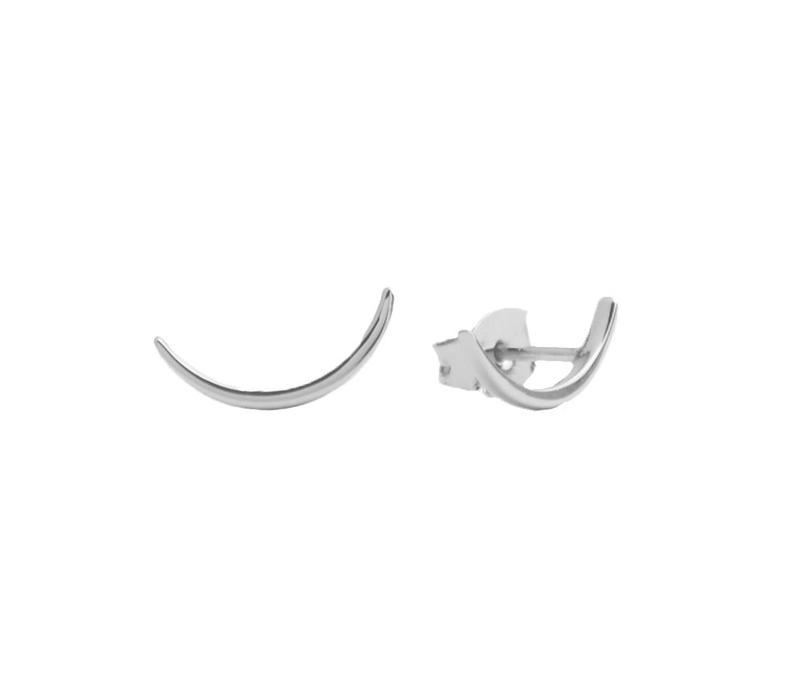 Earrings Long Moon plated