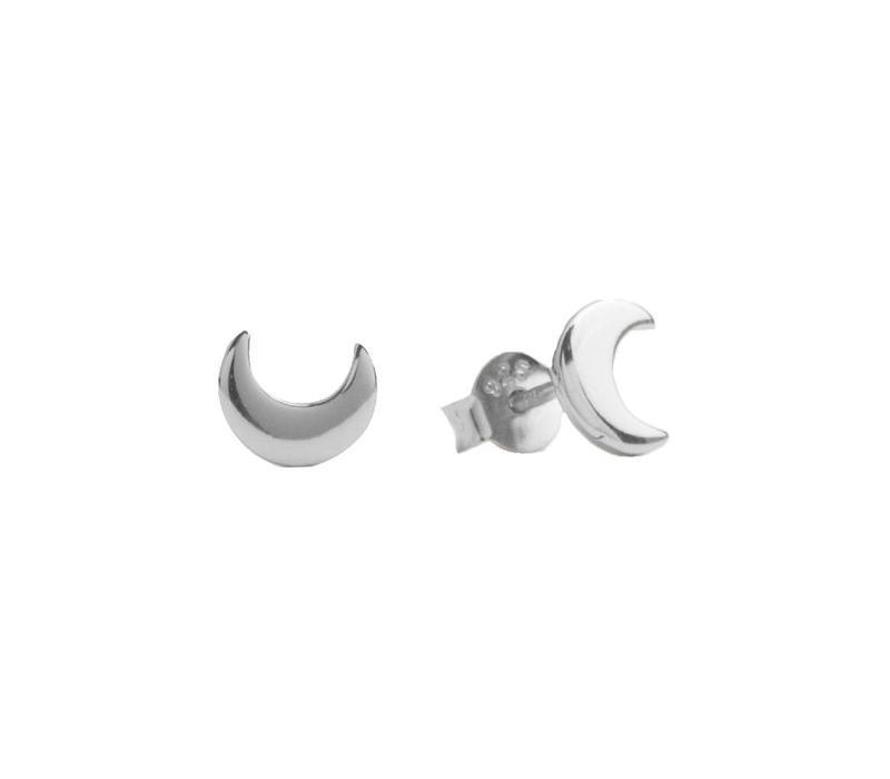 Oorbellen Maan zilver