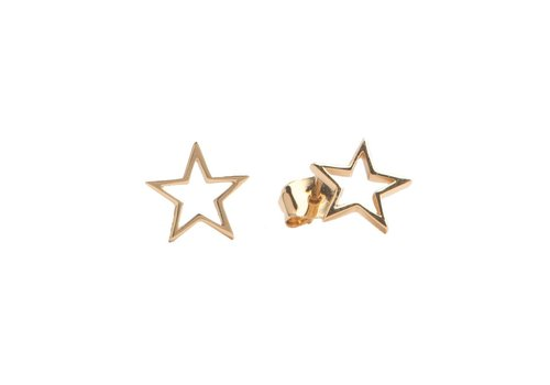 All the Luck in the World Parade Goldplated Earrings Open Star