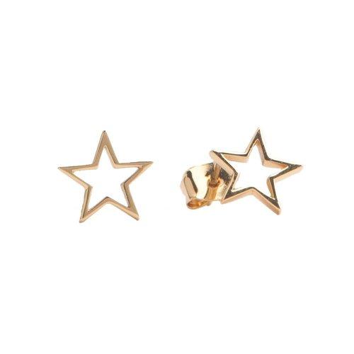Earrings Open Star gold
